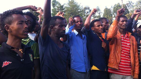 Manifestación de protesta en Wolenkomi, Etiopía - Sputnik Mundo