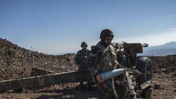 Militares sirios en la provincia de Quneitra - Sputnik Mundo