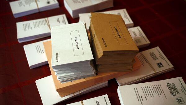 Papeletas electorales - Sputnik Mundo