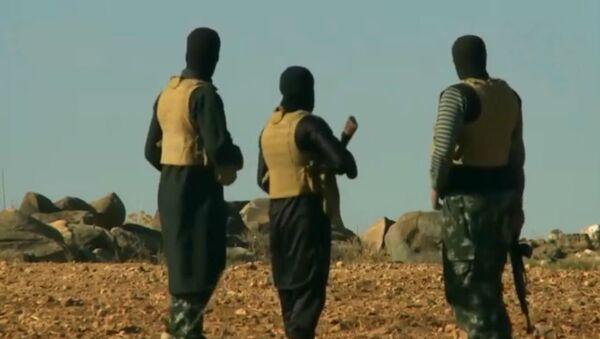 Yihadistas de Daesh en Afganistán (archivo) - Sputnik Mundo