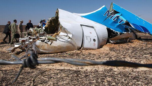 El lugar de la catástrofe con el Airbus A321 ruso en Egipto - Sputnik Mundo