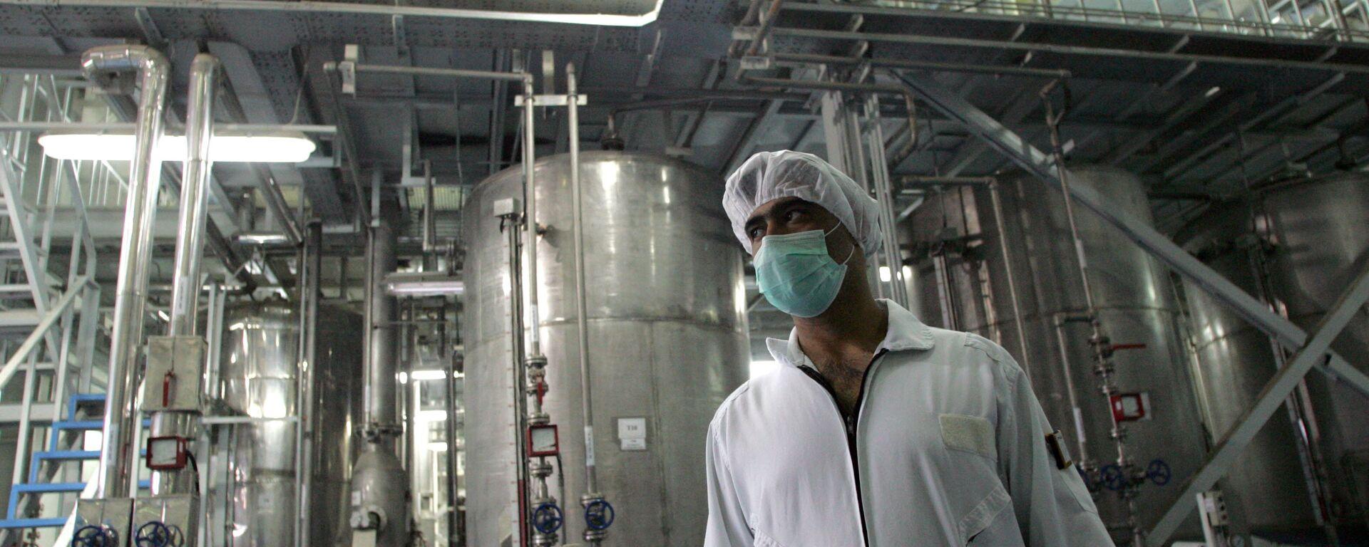 Un tecnólogo iraní en la planta de la conversión nuclear de Isfahan - Sputnik Mundo, 1920, 06.07.2021