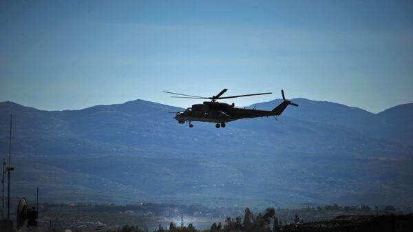 Helicóptero Mi-24 en Siria - Sputnik Mundo