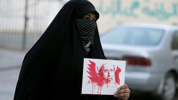 La protesta en Bahrein contra la ejecución del religioso chií Nimr Baqer al Nimr en Arabia Saudí - Sputnik Mundo
