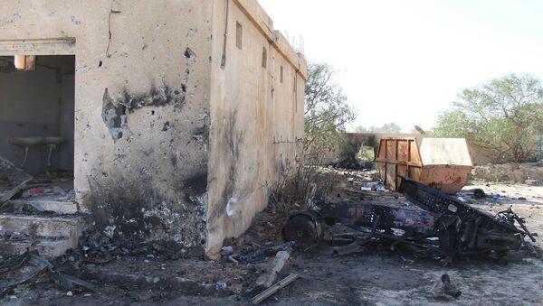 El lugar del atentado en Libia - Sputnik Mundo