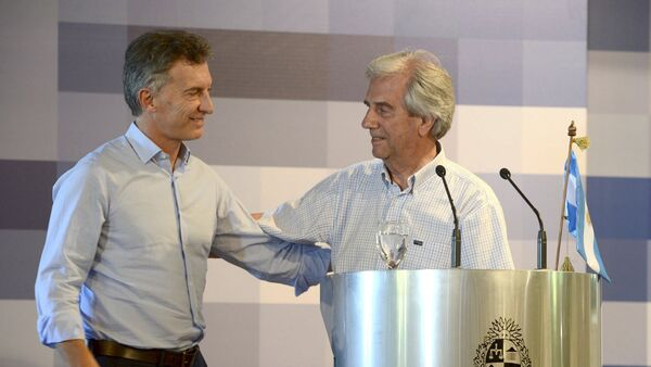 Presidente de Argentina, Mauricio Macri, y presidente de Uruguay, Tabaré Vázquez - Sputnik Mundo
