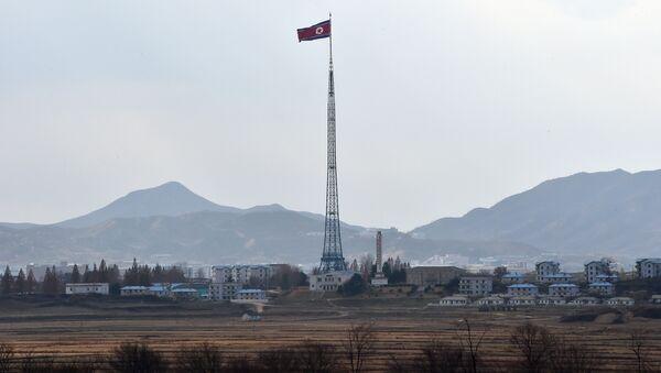 Bandera de Corea del Norte (archivo) - Sputnik Mundo