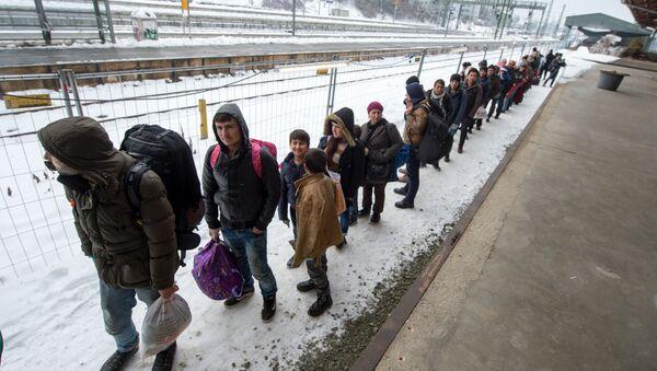 Refugiados en Passau, Baviera - Sputnik Mundo