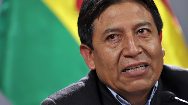 Bolivian Minister of Foreign Affairs David Choquehuanca speaks during a press conference in the framework of the Organization of American States (OAS) 40th Summit of Foreign Affairs Ministers in Lima on June 8, 2010. - Sputnik Mundo