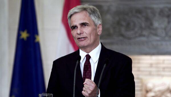 Werner Faymann, canciller federal de Austria - Sputnik Mundo