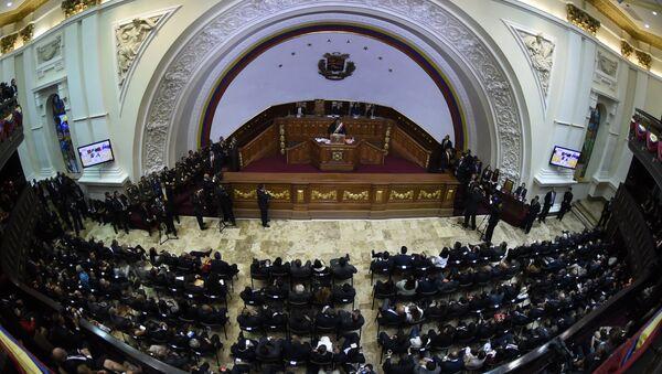 Presidente de Venezuela, Nicolás Maduro durante su discurso en la Asamblea Nacional - Sputnik Mundo