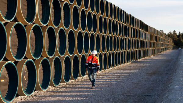 Tuberías para el gasoducto Nord Stream - Sputnik Mundo