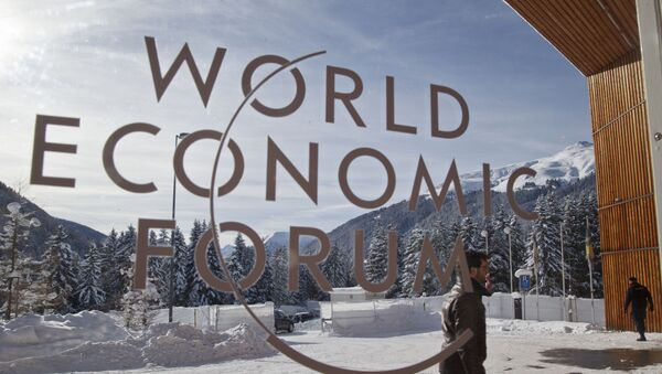 Entrada principal a las salas del Foro Ecónomico de Davos - Sputnik Mundo