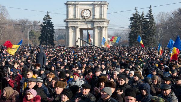 Manifestaciones antigubernamentales en Chisinau, Moldavia - Sputnik Mundo