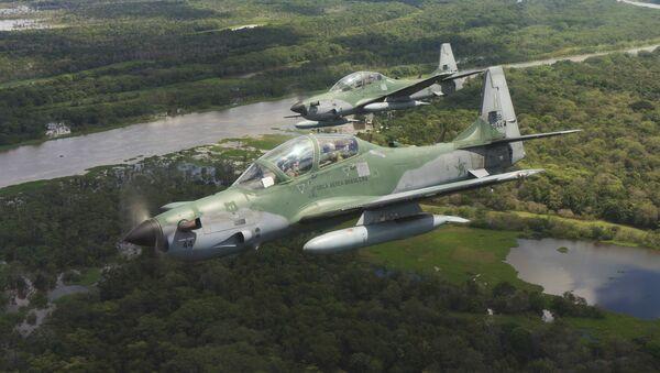 Aeronaves Super Tucano de la Fuerza Aérea de Brasil - Sputnik Mundo