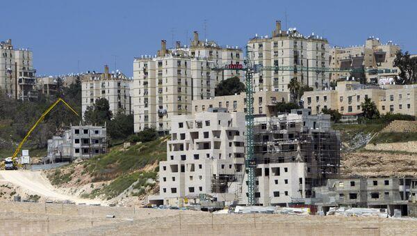 Construcción de viviendas en colonias judías (archivo) - Sputnik Mundo