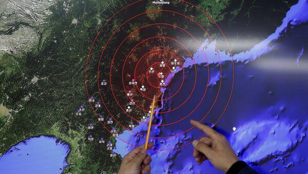 Foco sísmico que afectó Corea del Sur el 6 de enero de 2016 - Sputnik Mundo