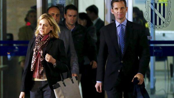 La infanta Cristina de Borbón con su esposo - Sputnik Mundo