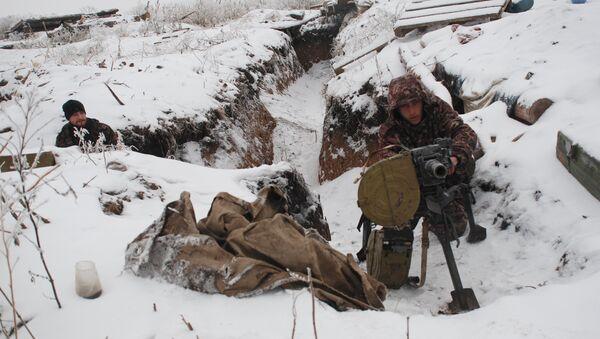 Milicias de Donbás en la línea de separación - Sputnik Mundo