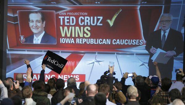 Ted Cruz gana las primeras primarias republicanas en Iowa - Sputnik Mundo
