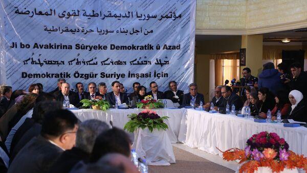 Reunión de las fuerzas kurdas de Siria en Al Malikiyeh - Sputnik Mundo