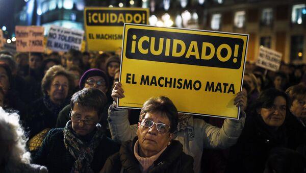 Una protesta contra el machismo en Madrid (archivo) - Sputnik Mundo