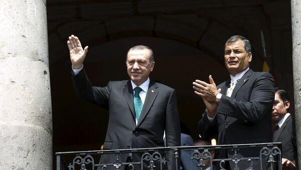 Presidente de Turquía, Recep Erdogan y presidente de Ecuador, Rafael Correa - Sputnik Mundo