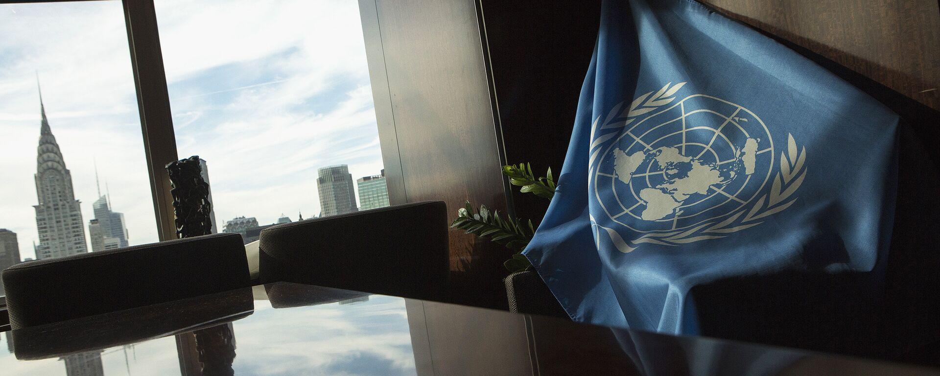 La bandera de la ONU en la sede de la entidad en Nueva York (archivo) - Sputnik Mundo, 1920, 19.10.2020
