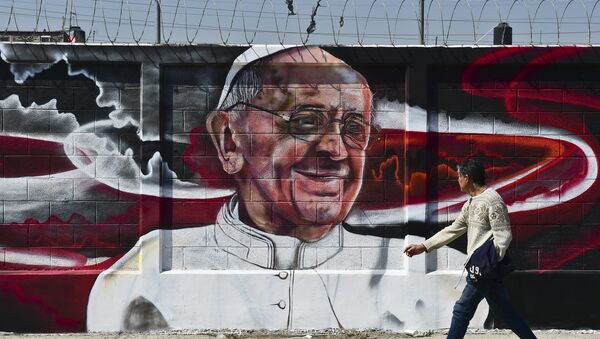 Imagen de Papa Francisco en México - Sputnik Mundo