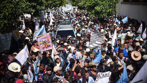 Una marcha de protesta de campesinos en Guatemala (archivo) - Sputnik Mundo