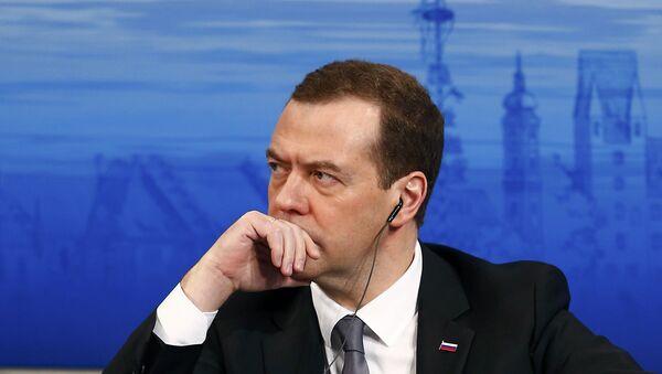El primer ministro de Rusia, Dmitri Medvédev, en la Conferencia de Seguridad en Múnich - Sputnik Mundo