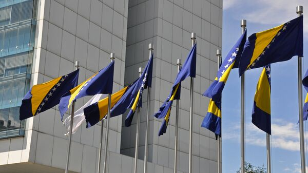 La bandera de Bosnia y Herzegovina - Sputnik Mundo
