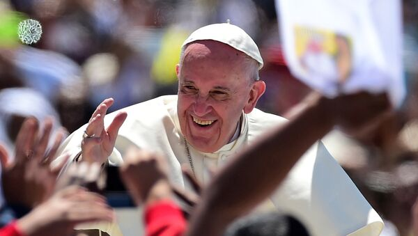 Papa Francisco en San Cristobal de las Casa, México - Sputnik Mundo