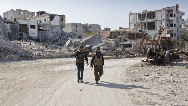 Militares kurdos en Siria (archivo) - Sputnik Mundo