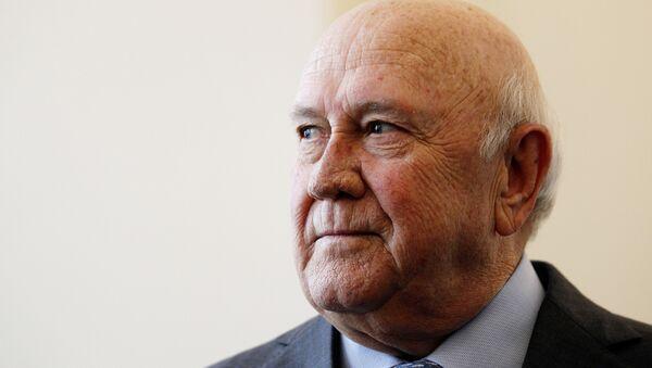 Frederik de Klerk, expresidente sudafricano y Premio Nobel de la Paz - Sputnik Mundo