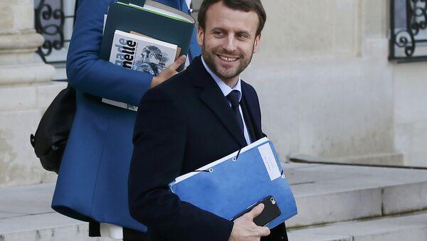 Emmanuel Macron, candidato presidencial de Francia (archivo) - Sputnik Mundo