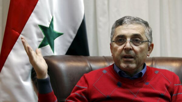 Syria's Minister of National Reconciliation Affairs Ali Haidar speaks during an interview with Reuters at his office in Damascus, Syria February 10, 2016. - Sputnik Mundo