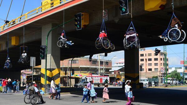 Protesta de descapacitados, Bolivia - Sputnik Mundo
