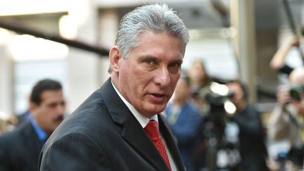 Miguel Mario Díaz Canel, primer vicepresidente de los Consejos de Estado y Ministros de la República de Cuba - Sputnik Mundo