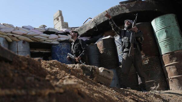 Rebeldes sirios en Damasco - Sputnik Mundo