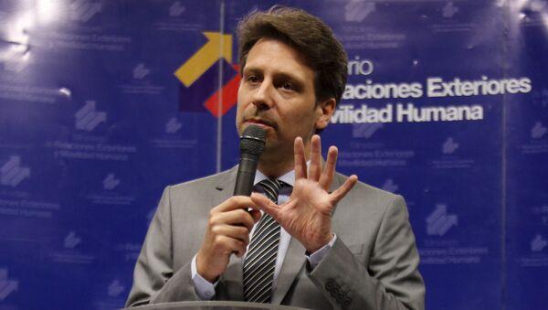 Ministro de Exteriores de Ecuador, Guillaume Long - Sputnik Mundo