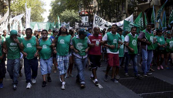 Huelga en Buenos Aires contra los despidos - Sputnik Mundo