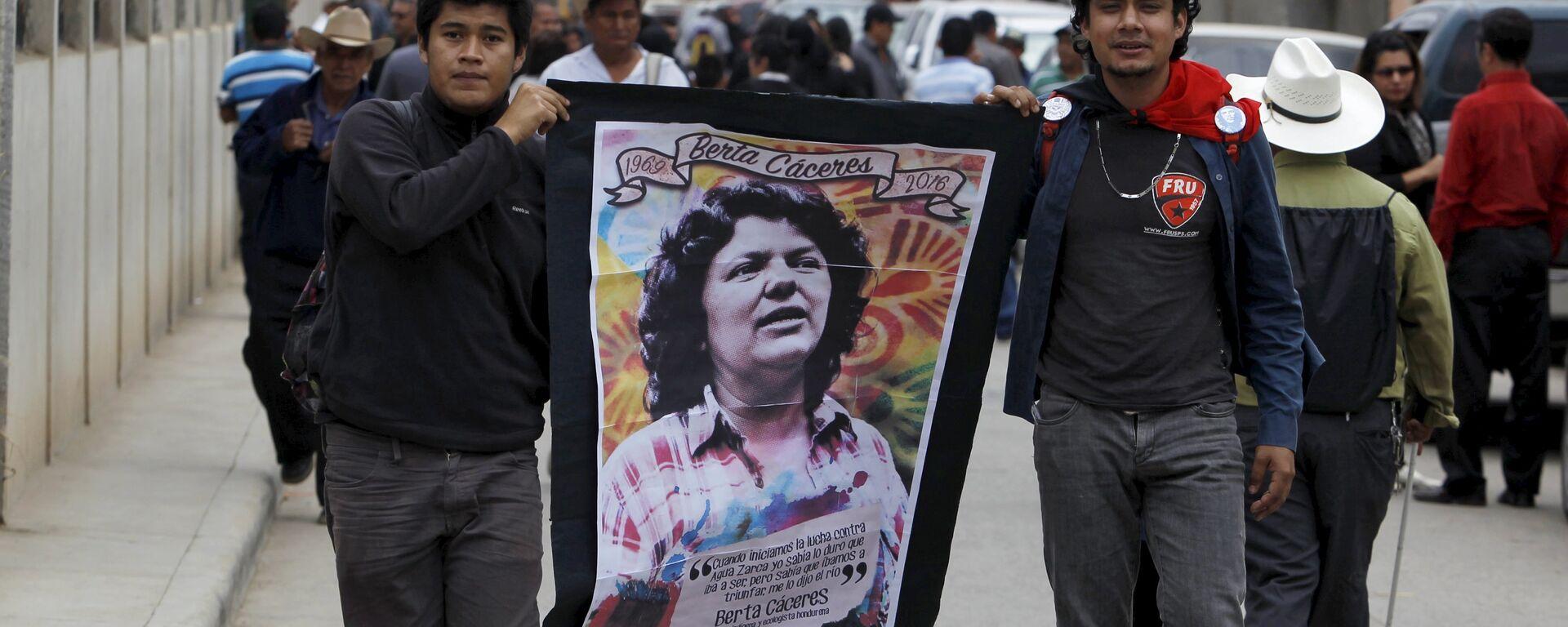 Funeral de la activista hondureña Berta Cáceres (archivo) - Sputnik Mundo, 1920, 03.02.2020