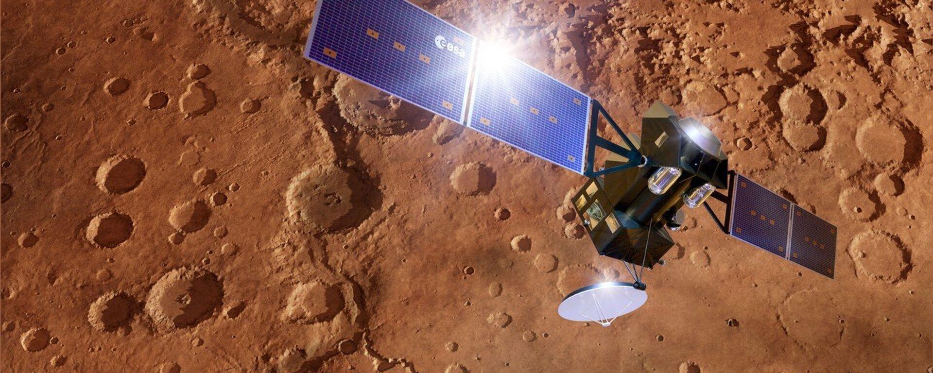 La nave espacial ExoMars TGO en Marte, visión artística - Sputnik Mundo, 1920, 11.02.2021
