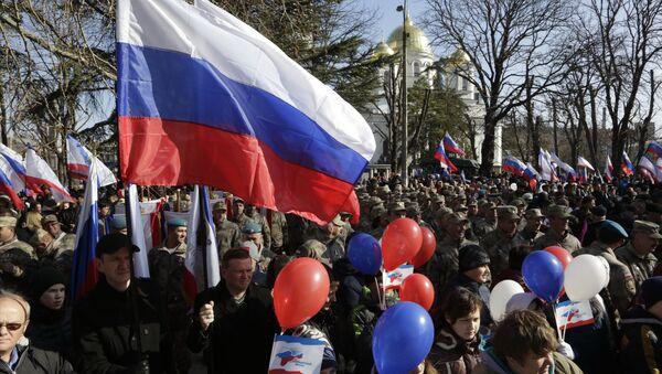 La celebración del 2 aniversario de la adhesión de Crimea a Rusia - Sputnik Mundo