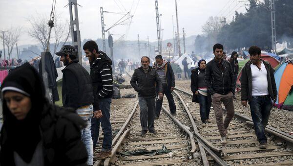 Los refugiados en Europa - Sputnik Mundo