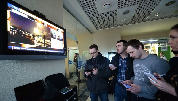Personas en el aeropuerto de Rostov en el Don - Sputnik Mundo