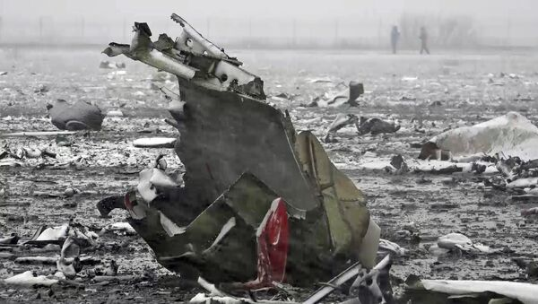 Los restos del avión siniestrado en Rostov del Don - Sputnik Mundo