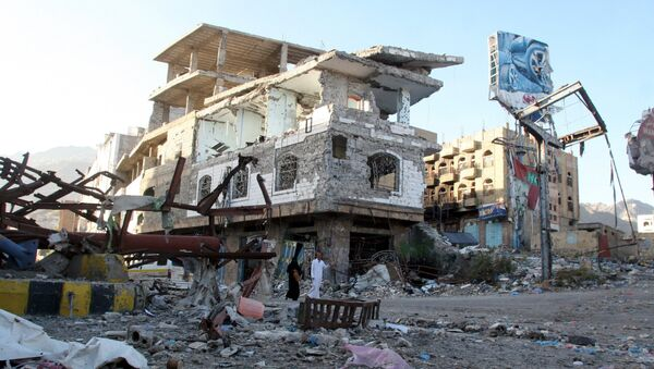 Casas destruidas en Yemen (archivo) - Sputnik Mundo