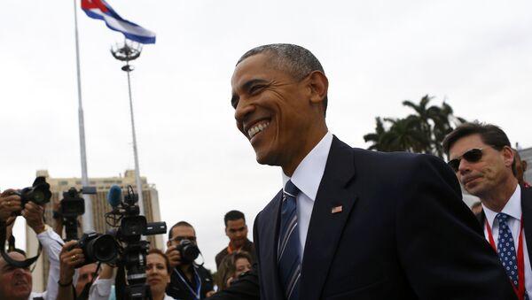 Barack Obama durante su visita a La Habana - Sputnik Mundo